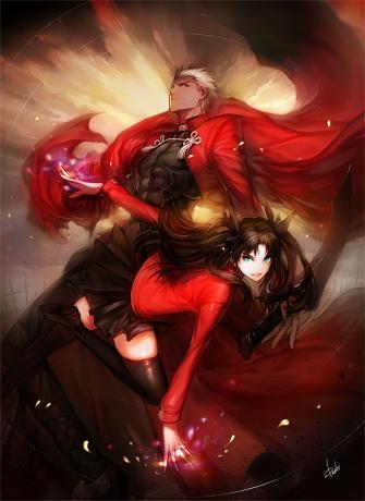 Fate/Stay Night - Archer and Rin Tohsaka by Danhu