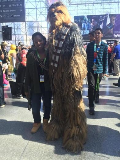 Chewie, my how tall you are!
