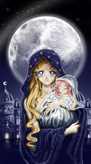 """""""Sailor Moon R"""" Neo Queen Serenity and an infant Princess Small Lady Serenity. Holy moon by Pillara"""