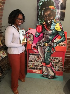 NeeNee with Ariell, the owner, in nerd fashion