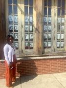 Outside the doors