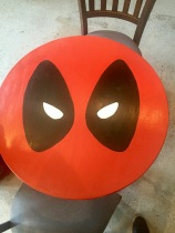 Hand-painted Deadpool Table