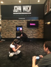 This girl was going crazy with the VR.