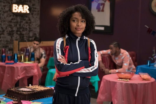 """GROWN-ISH - """"C.R.E.A.M. (Cash Rules Everything Around Me)"""" - When Zoey's Instagram becomes flooded with haters, she wonders if it's time to alter her brand. This episode of """"grown-ish"""" airs Wednesday, Jan. 24 (8:00 - 8:31 p.m. EST) on Freeform. (Freeform/Eric McCandless) YARA SHAHIDI"""